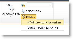 opdracht html-bron bewerken