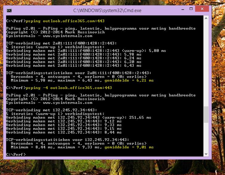 Zoek uw IP met PSPing in de opdrachtregel op de clientcomputer.