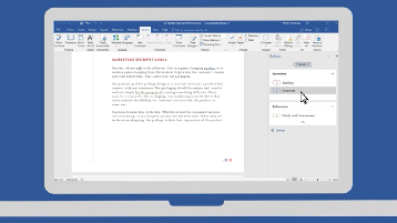 afbeelding van een Word-document geopend op een computer