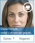 Schermafbeelding van het dialoogvenster Chatverzoek