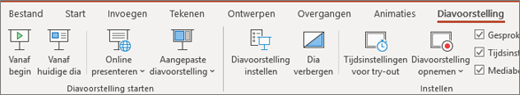 Diavoorstelling in PowerPoint in Office 365