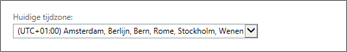 Tijdzone-instelling van Outlook Web App