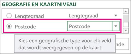 Postcode wordt toegewezen aan postcode