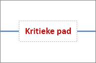 Tekstvak op verbindingslijn