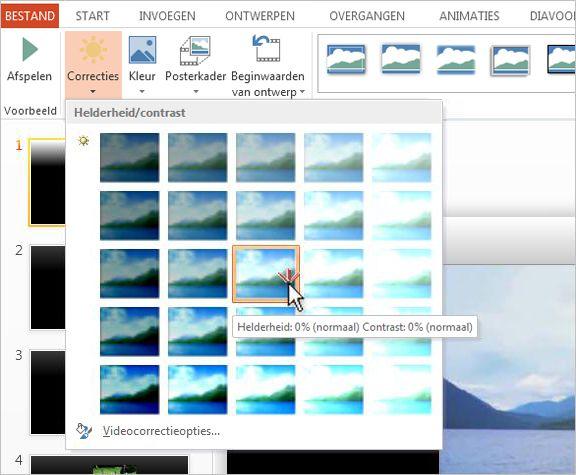 De helderheid en het contrast van een video aanpassen