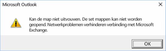 Outlook 2016-fout: de map kan niet worden uitgevouwen