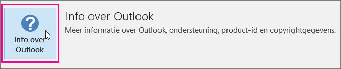 Klik op het vak Info over Outlook.