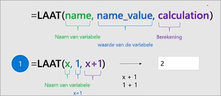 Hiermee wordt de LET-functie in Excel weergegeven