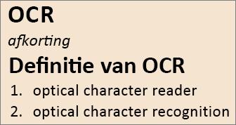OCR-overzicht