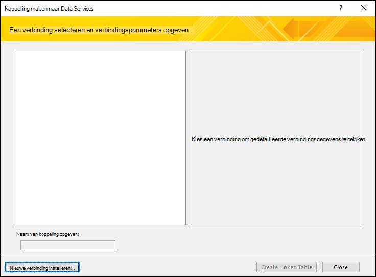 Een gegevensverbinding voor een webservice installeren
