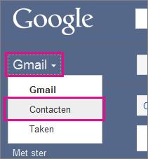 google gmail - klik op contacten