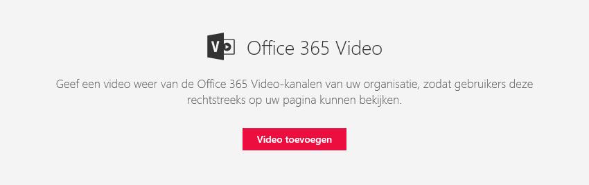 Schermafbeelding van het Office 365-dialoogvenster Video toevoegen in SharePoint.