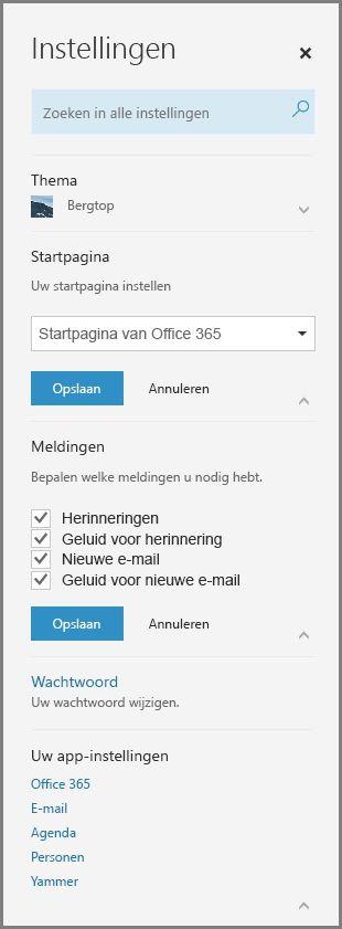 Office 365-meldingen
