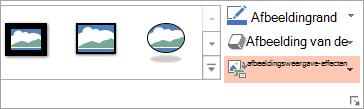De knop indeling van afbeelding wordt weergegeven op het tabblad Opmaak