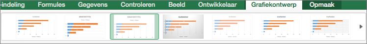 Selecteer een grafiekopmaak op het tabblad Grafiekontwerp