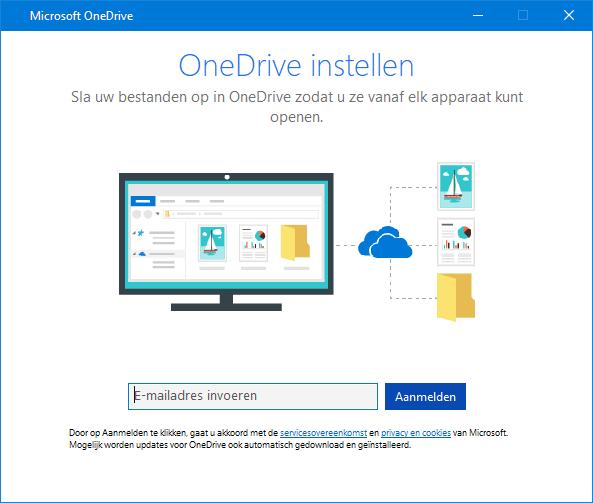 Nieuwe gebruikersinterface OneDrive-instellingenscherm