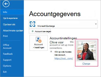 Foto van koppelingen wijzigen in Outlook