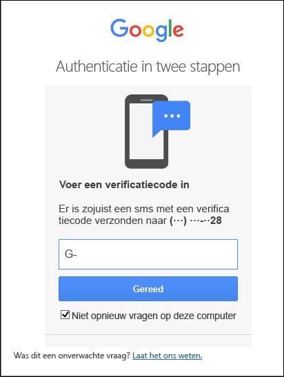 Als u 2 ledige autorisatie hebt ingeschakeld, voert u de code in.