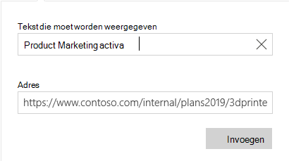 Mail voor Windows 10 hyperlink tekst dialoogvenster