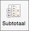 Selecteer Subtotaal op het tabblad Gegevens