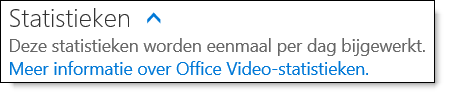 Statistieken voor Office 365 Video
