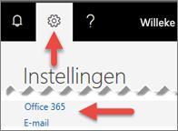 Een afbeelding die laat zien waar u op Instellingen kunt klikken.