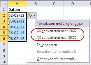 Opdrachten voor het converteren van datums