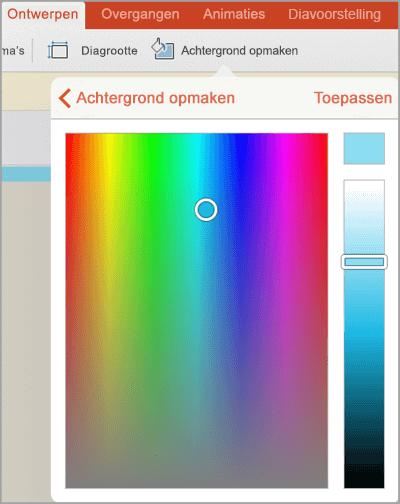 Aangepaste achtergrondkleuren