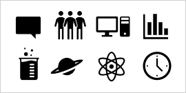 Office-pictogram van bibliotheek