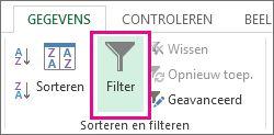 Knop Filteren