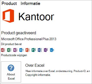 Msi-installatie van Excel