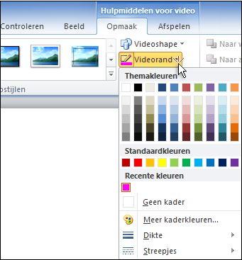 De kleur van een video wijzigen