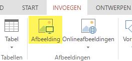 De knop Afbeelding invoegen