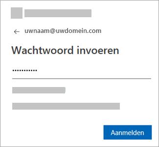 Voer het wachtwoord voor uw e-mailaccount in.