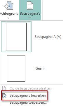 Uw basispagina's bewerken in Publisher 2013.