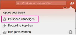 Delen in PowerPoint voor Mac