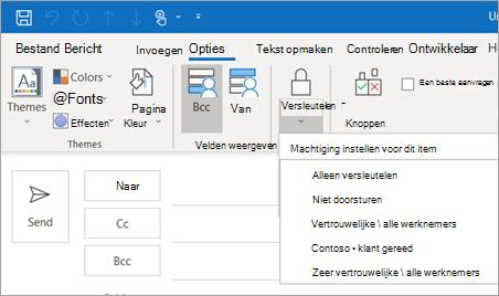 Opties voor de knop versleutelen