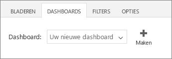 Nieuw dashboard in de lijst Dashboard