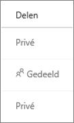 Weergave van de Status van delen van OneDrive voor Bedrijven