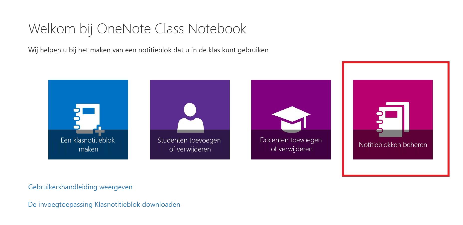 Schermafbeelding van het pictogram Notebook-lijsten.