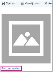 Het dialoogvenster Foto uploaden waarin Foto uploaden is gemarkeerd