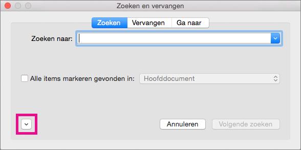 woord zoeken in pagina mac