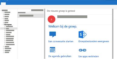 Groepsgesprekken bekijken, lezen of erop reageren in Outlook voor Mac