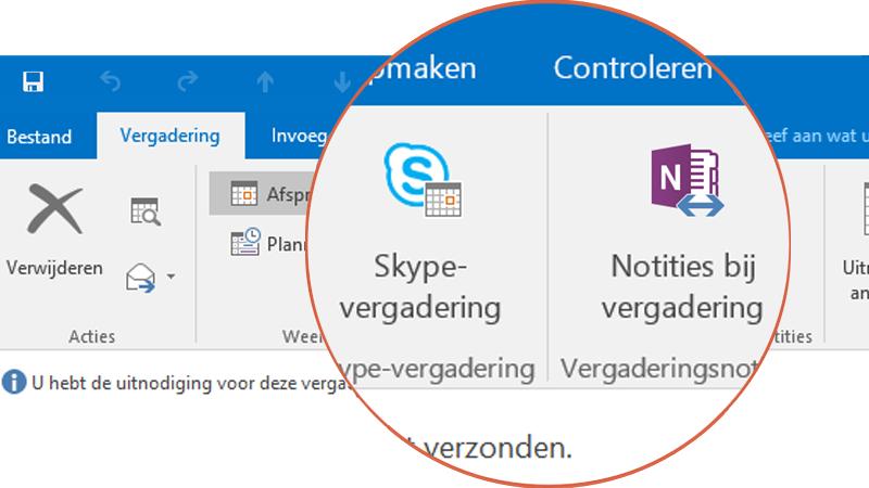 Samenwerken met Skype en OneNote