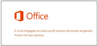 Probleem bij het aanmelden bij uw Microsoft-account