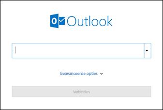 Voer uw e-mailadres in en klik op Verbinding maken.