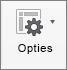 Selecteer Opties op het tabblad Draaitabel analyseren