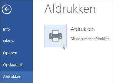 Knop Afdrukken naar PDF in Word Online