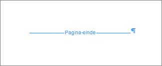 Voorbeeld van pagina-einde