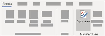 Selecteer exporteren in de Microsoft-flow groep op het tabblad proces.